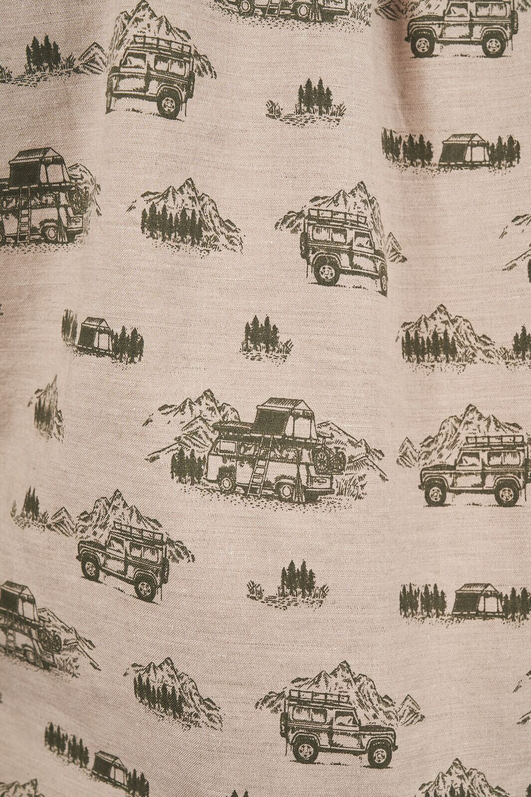 United By Blue Outpost Koszulka na guziki Mężczyźni, mushroom/adventure mobile